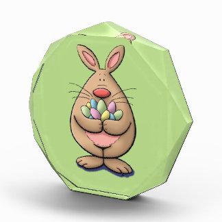 cute & funny easter bunny holding eggs cartoon award
