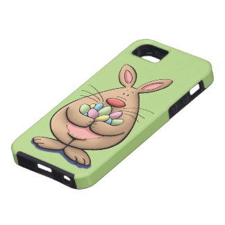cute & funny easter bunny holding eggs cartoon iPhone SE/5/5s case