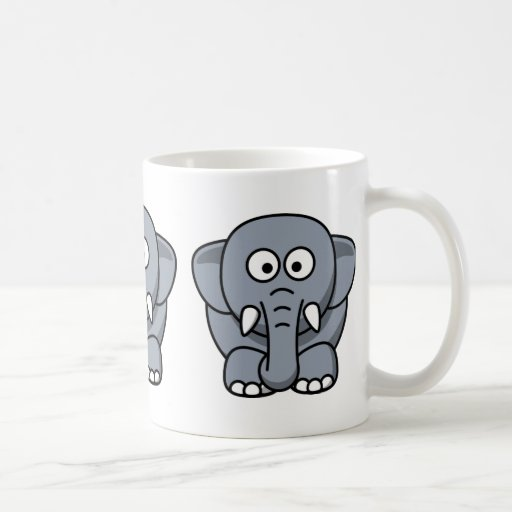 Cute Funny Elephant Classic White Coffee Mug