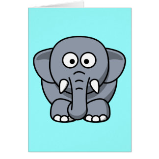 Cute Funny Elephant Greeting Cards