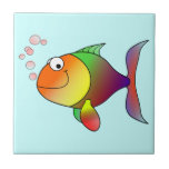 Cute Funny Fish - Colorful Tiles