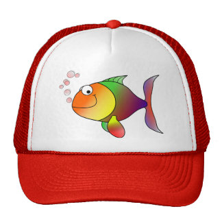 Cute Funny Fish - Colorful Trucker Hat
