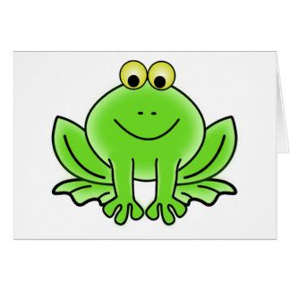 Cute Funny Frog Card