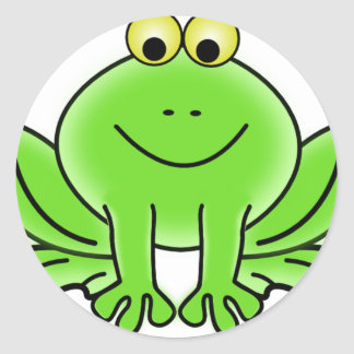 Cute Funny Frog Classic Round Sticker