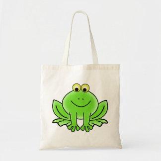 Cute Funny Frog Tote Bag