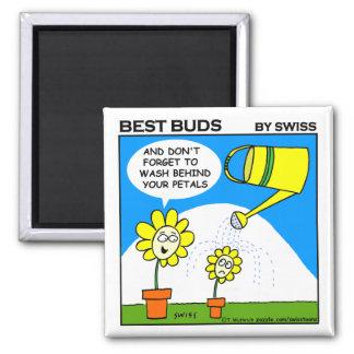 Cute Funny Gardening Cartoon Fridge Magnet