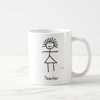 Cute Funny Generic Teacher Stick Figure Cartoon Coffee Mug