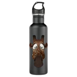 Cute Funny Giraffe Face Stainless Steel Water Bottle