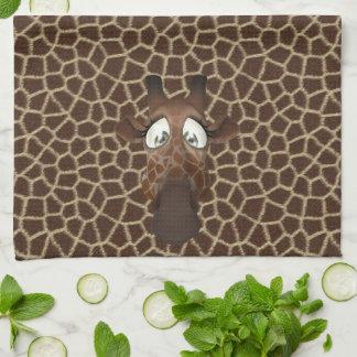 Cute Funny Giraffes Animal Fur Pattern Kitchen Towel