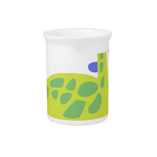 Cute funny green dinosaur drink pitcher