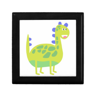Cute funny green dinosaur gift box