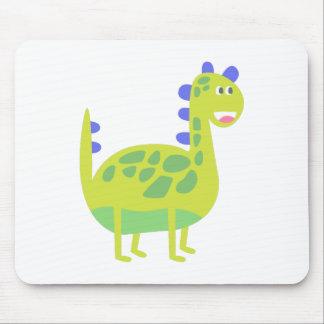 Cute funny green dinosaur mouse pad