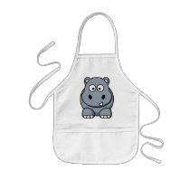 Cute Funny Hippo Kids' Apron