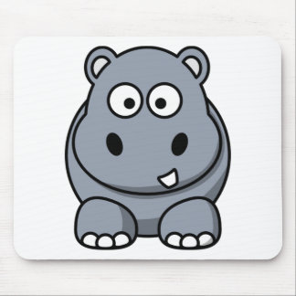 Cute Funny Hippo Mouse Pad