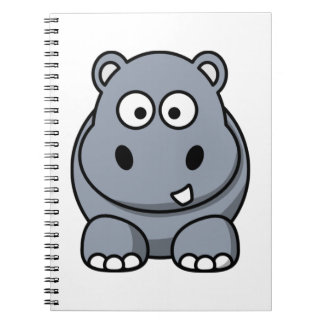 Cute Funny Hippo Notebook
