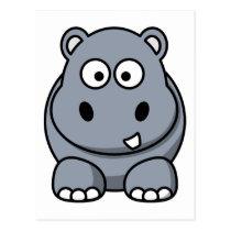 Cute Funny Hippo Postcard