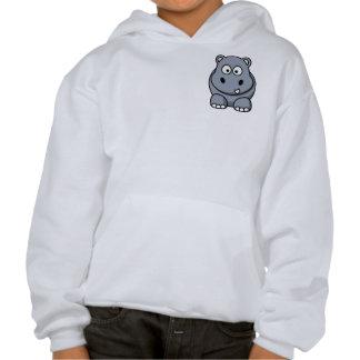 Cute Funny Hippo Pullover