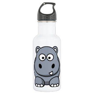 Cute Funny Hippo Stainless Steel Water Bottle