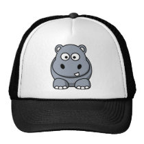 Cute Funny Hippo Trucker Hat