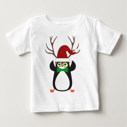 Cute funny hipster Xmas Penguin Tee Shirts