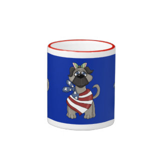 Cute funny July 4th pug mug