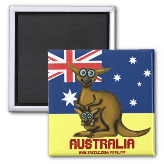 Cute funny kangaroo Australia magnet