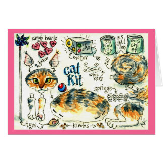 Cute funny kitten cat greeting or note card