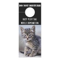 Cute Funny Kitten Do Not Disturb Door Hanger