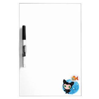 Cute funny kitten vector illustration dry erase board