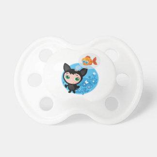 Cute funny kitten vector illustration pacifier