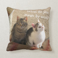 Cute Funny Kittens - Throw Pillow