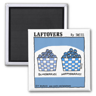 Cute Funny Laftovers Blueberry Cartoon Magnet
