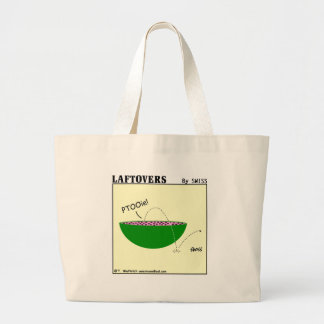 Cute Funny Laftovers Watermelon Cartoon Grocery Large Tote Bag