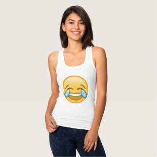 Cute, funny laughing emoji Tank Top