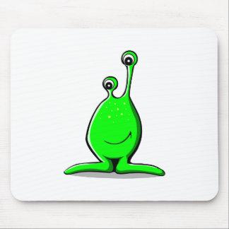Cute Funny Little Alien Cartoon Mouse Pads