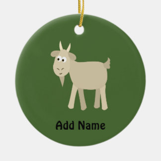 Cute Funny Little Goat Ceramic Ornament