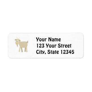 Cute Funny Little Goat Label
