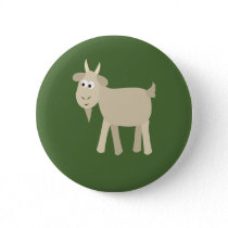 Cute Funny Little Goat Pinback Button