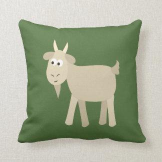 Cute Funny Little Goat Throw Pillow