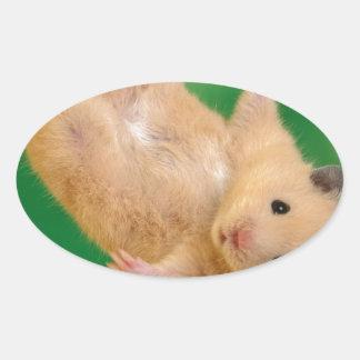cute funny little guy oval sticker