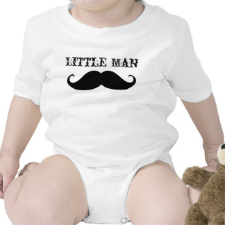 Cute funny little man vintage mustache baby humor romper