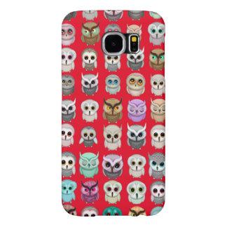 Cute Funny Little Owls Illustrations Samsung Galaxy S6 Case