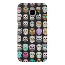 Cute Funny Little Owls Illustrations Samsung Galaxy S6 Case