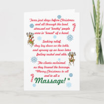 Cute Funny Massage Therapy Christmas Holiday