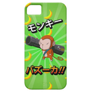 Cute Funny Monkey with Bazooka and Bananas iPhone 5 Cases