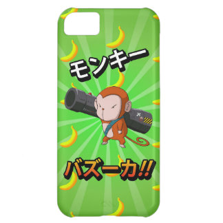 Cute Funny Monkey with Bazooka and Bananas iPhone 5C Case