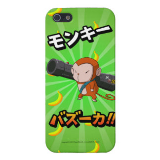 Cute Funny Monkey with Bazooka and Bananas iPhone 5 Cover
