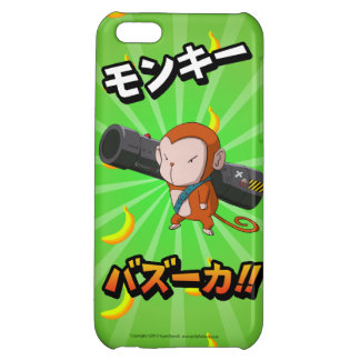 Cute Funny Monkey with Bazooka and Bananas Case For iPhone 5C