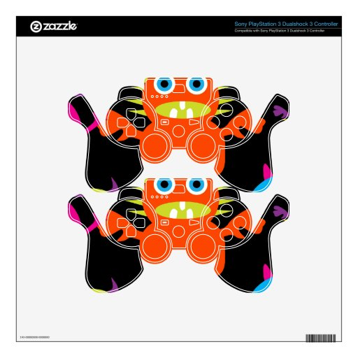 Cute Funny Monster Party Creatures in Circle Skins For PS3 Controllers