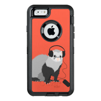 Cute Funny Music Lover Ferret OtterBox iPhone 6/6s Case